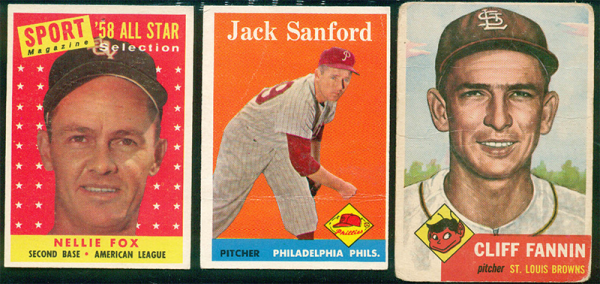 Mid-century baseball cards were a model for our early layouts