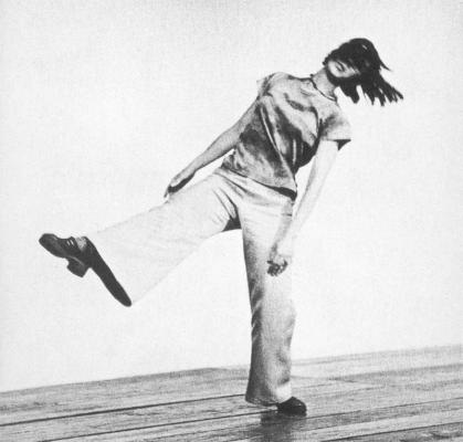 Yvonne Rainer dancing