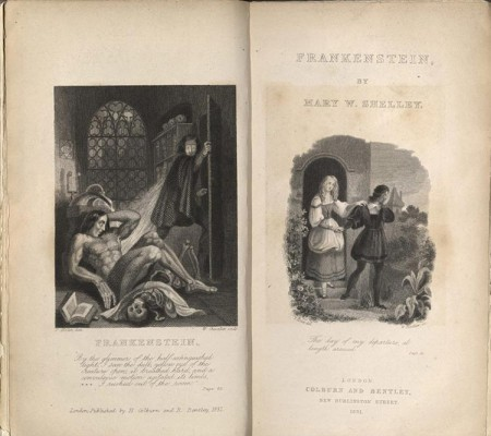 frontispiece, Shelley's Frankenstein